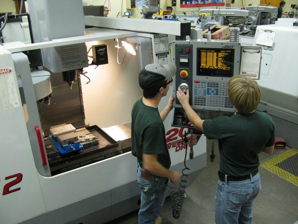 Precision Machining students will have the opportunity to learn and use a Haas CNC Machine