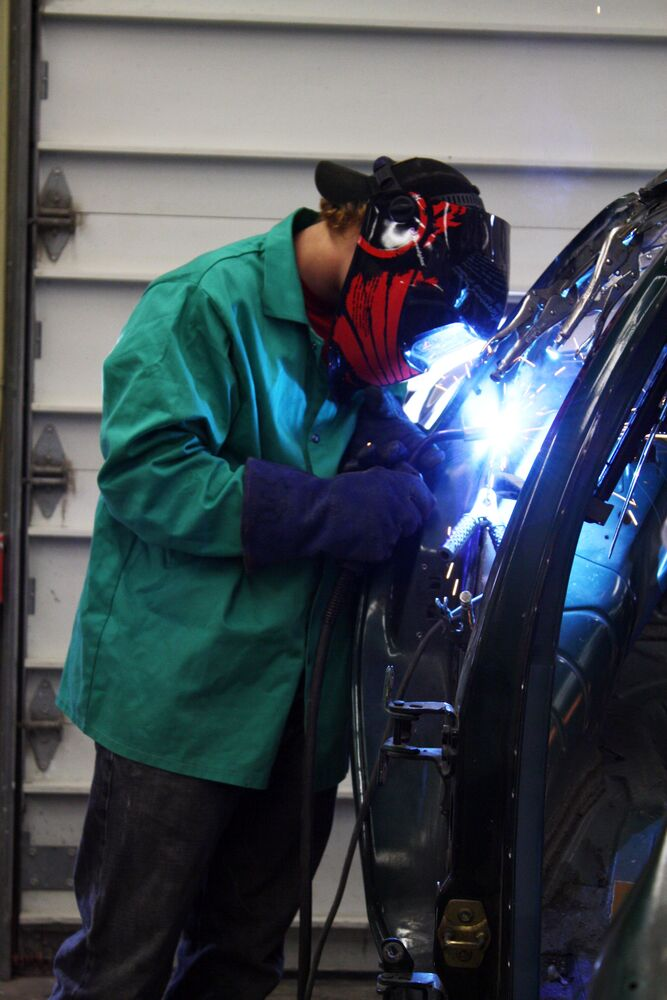 Welding is one of many skills you'll learn in Collision Repair Technology