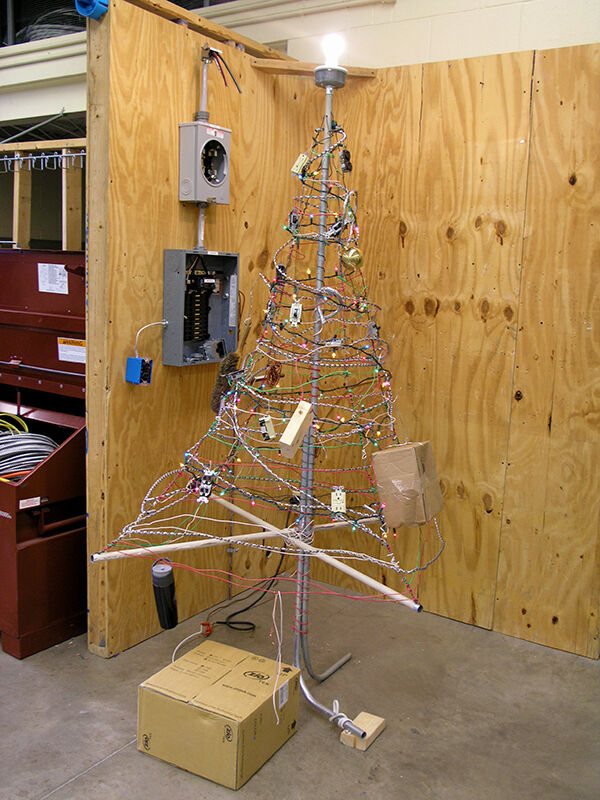 This is the Electrical Systems Christmas Tree!