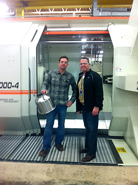 Joe Weisser meets with Joel Perrotto of PMF Industries.