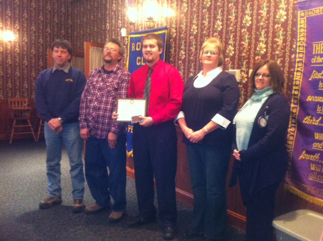 Dakota Eberhart, January 2013 Rotary Student of the Month