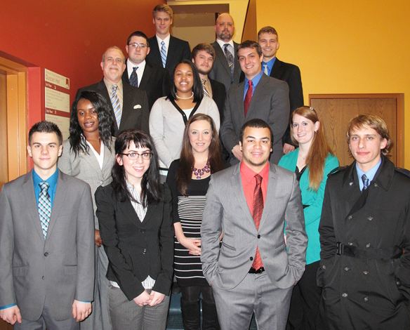 Heather Stigerwalt (second row, far right) is a 2010 graduate of Criminal Justice.