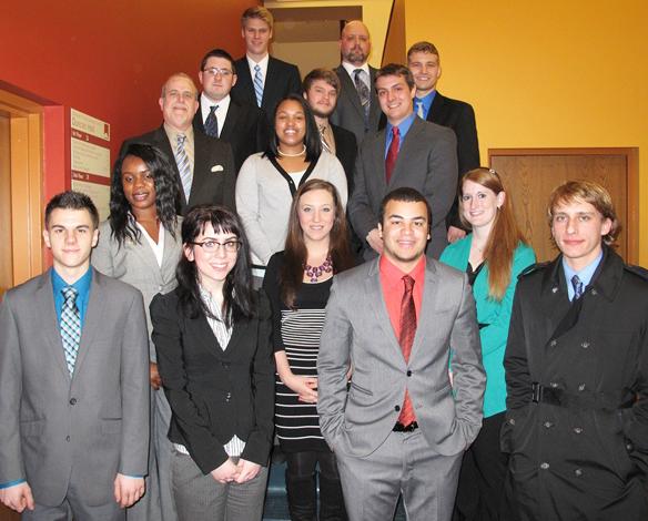 Heather Stigerwalt (second row, far right) is a 2010 graduate of Criminal Justice.