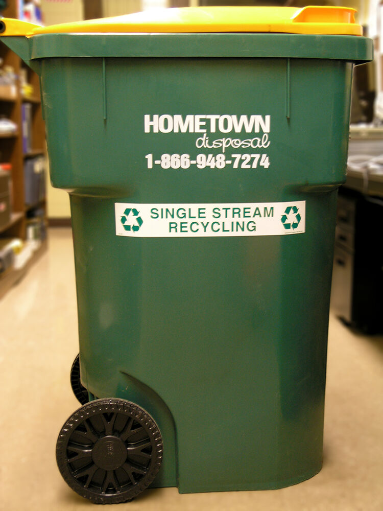 Recycling Fundraiser Can from Hometown Disposal