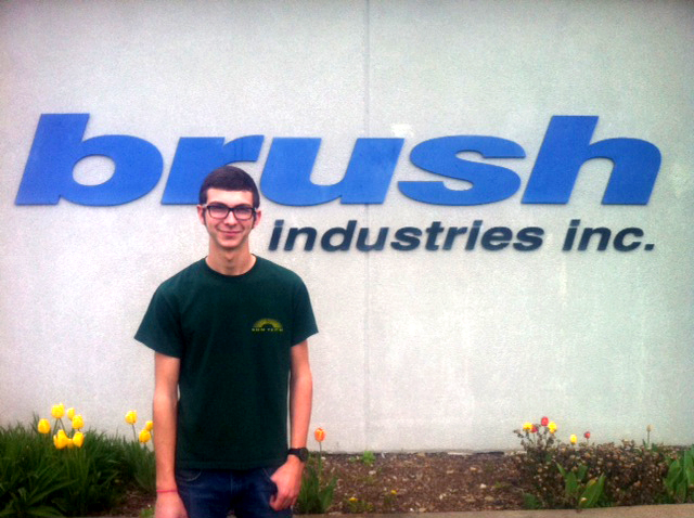 Precision Machining student Parker Derr on Co-op at Brush Industries