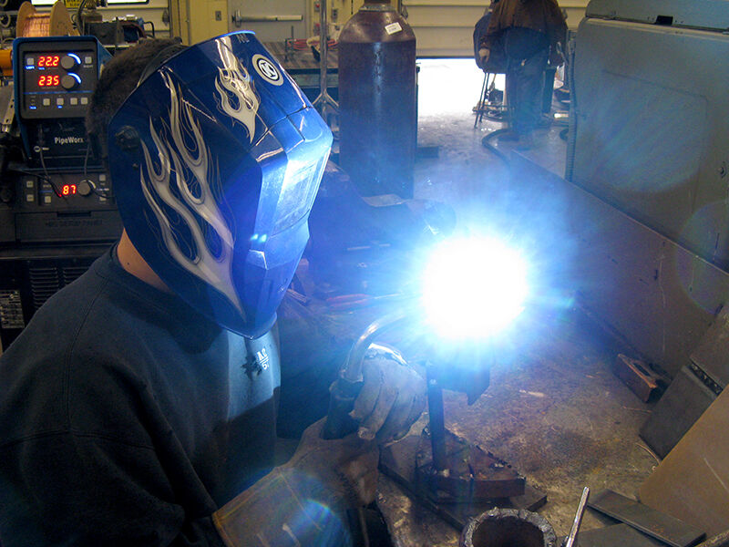 Welding Student Jared Wolever