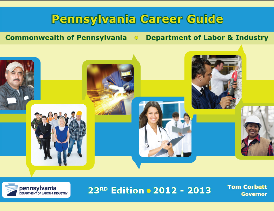 The cover to the 2012-2013 Pennsylvania Career Guide.