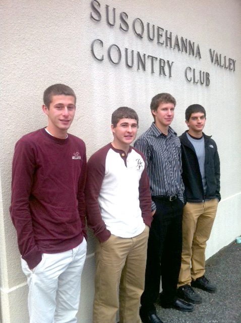 (Left to right) Trevor Stuck, Colton Snook, Ryan Kerstetter and Josh Derr