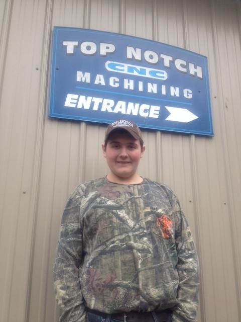 Wyatt Maneval at Top-Notch CNC