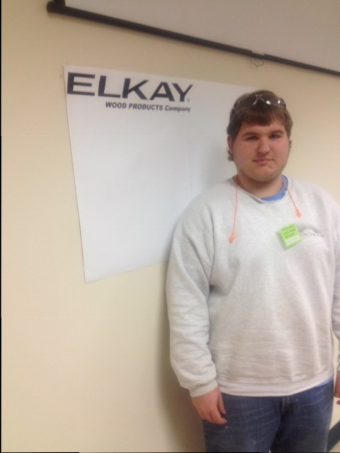 Dylan Pawling at Elkay Wood Products