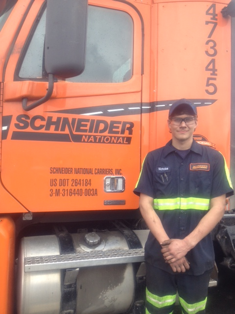 Nicholas Strawser at Schneider National Trucking