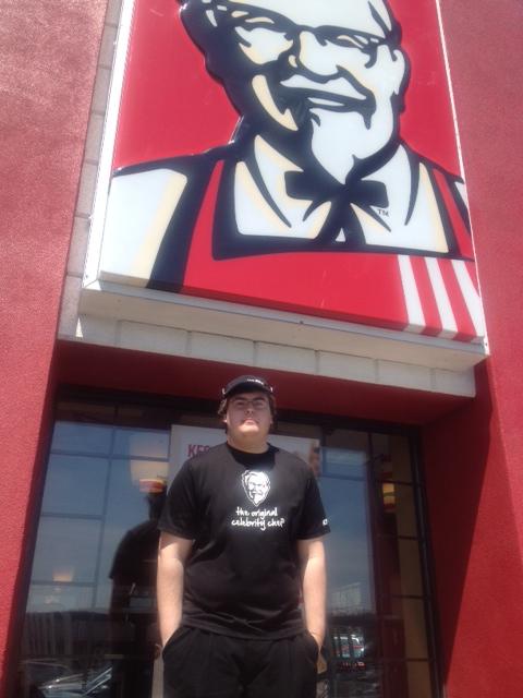 yler Lieberman at Kentucky Fried Chicken