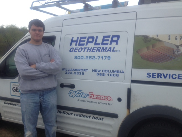 Chase Raker at Hepler Geothermal