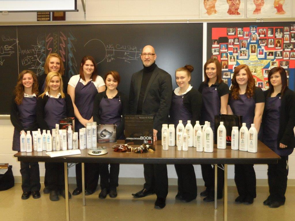 Larry Smith and the Cosmetology Class of 2014
