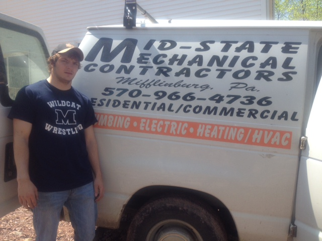 Ryan Gessner at Mid-State Mechanical Contractors