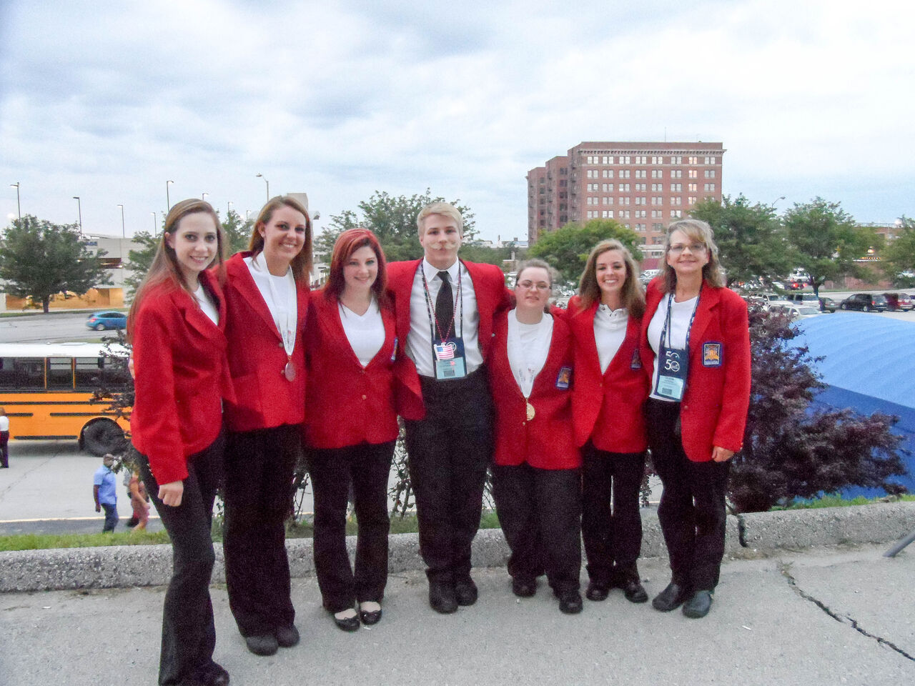 (Left to right): Taylor Money, Marinna Carroll, Emily Weeder, Brendon Hicks, Audrey Seltzer, Mallory Baily, and instructor Crystal Gutshall