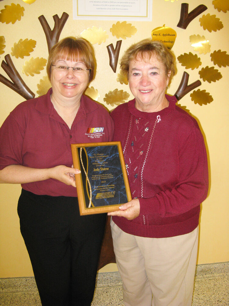 Mrs. Sharer and JOC President Mary Brouse