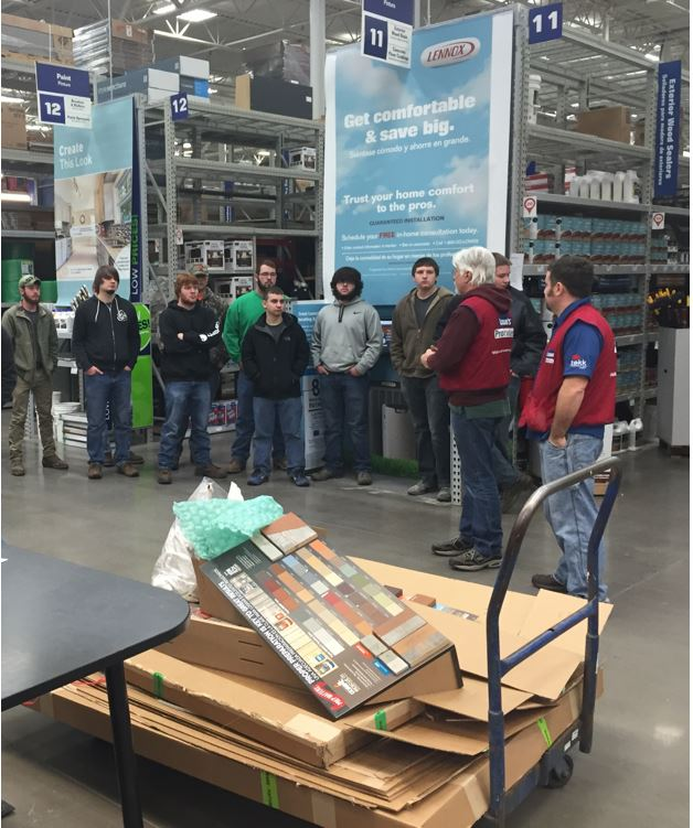 Lowes hosts Carpentry, HVAC, and Electrical students. Venders and potential employers are there to speak to our students